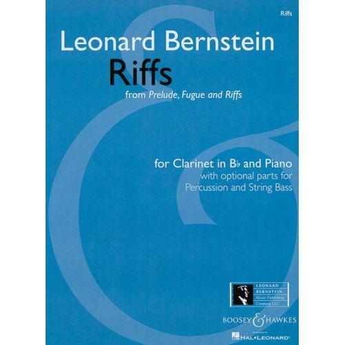 BOOSEY & HAWKES BERNSTEIN LEONARD - RIFFS - CLARINET AND PIANO