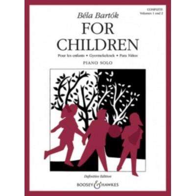 BOOSEY & HAWKES BARTOK BELA - FOR CHILDREN VOL.1 & 2 - PIANO