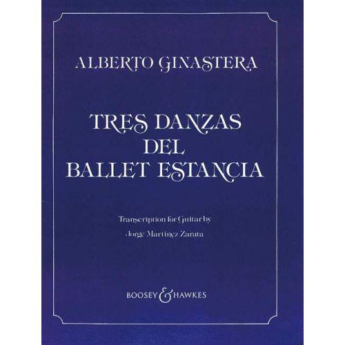 BOOSEY & HAWKES GINASTERA ALBERTO - 3 DANCES OP. 8 - 2 GUITARES