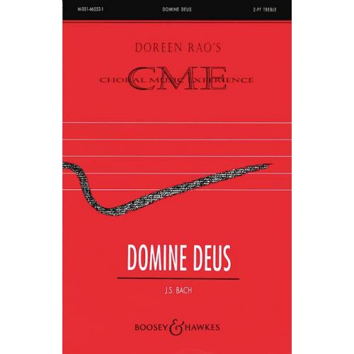 BOOSEY & HAWKES BACH J.S. - DOMINE DEUS - CHILDREN'S CHOIR AND PIANO, OPTIONAL VIOLIN