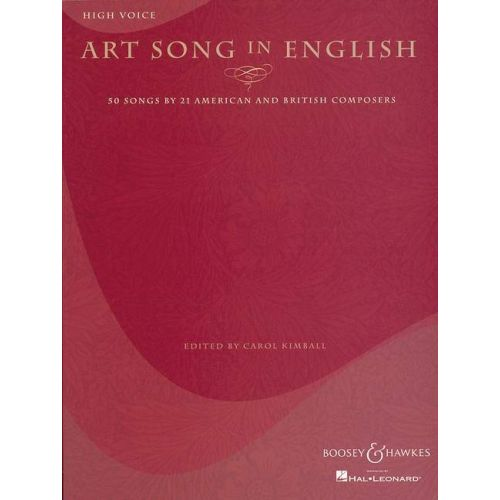 BOOSEY & HAWKES ART SONG IN ENGLISH - HIGH VOICE AND PIANO