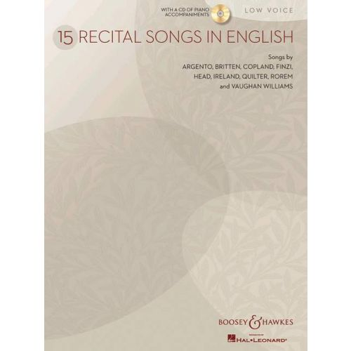 BOOSEY & HAWKES 15 RECITAL SONGS IN ENGLISH + CD