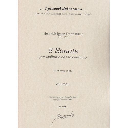 MUSEDITA BIBER H. I. F. - 8 SONATE - SET PARTIES (VIOLON SEUL)