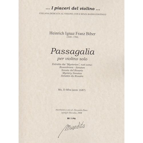 MUSEDITA BIBER H.I.F. - PASSAGAGLIA PER VIOLINO SOLO