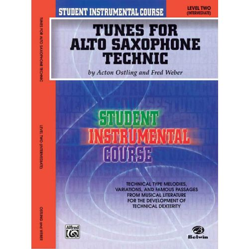 ALFRED PUBLISHING TUNES FOR TECHNIC LEVEL 2 - ALTO SAX