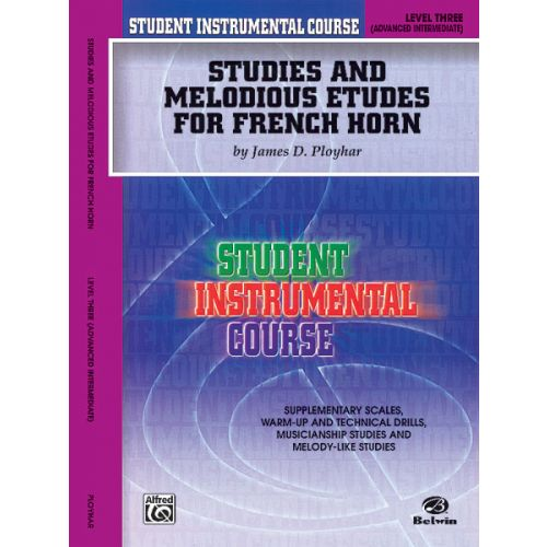 ALFRED PUBLISHING STUDIES AND ETUDES 3 - FRENCH HORN