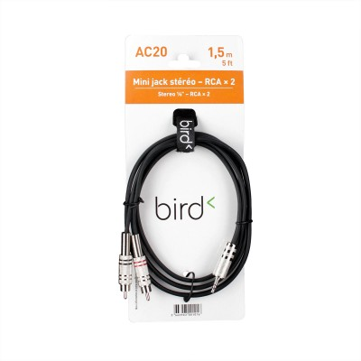 BIRD INSTRUMENTS AC20 - 1/8 STEREO PHONE / 2 MALE RCA - 1,5M