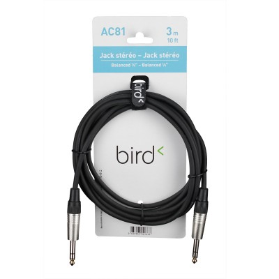 BIRD INSTRUMENTS AC81 - BALANCED 1/4 PHONE / BALANCED 1/4 PHONE - 10FT