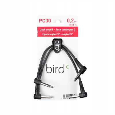 BIRD INSTRUMENTS PC30 - ANGLED 1/4 PHONE / ANGLED 1/4 PHONE PATCH 2 PACK - 0.66FT