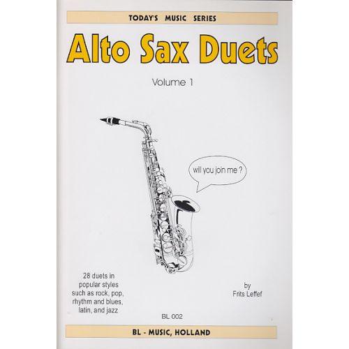 SPARTAN PRESS MUSIC LEFFEF F. - ALTO SAX DUETS - 2 SAXOPHONES ALT