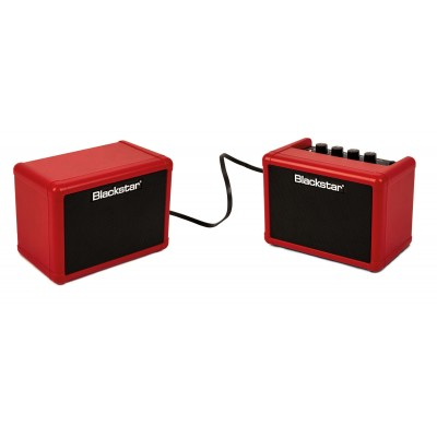BLACKSTAR FLY STEREO PACK RED - FLY 3 RED MINI AMP + EXTENSION BAFFLE EXTENSION FLY 103 RED + POWER SUPPLIES