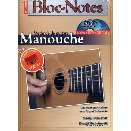 COUP DE POUCE BLOC-NOTES METHODE DE GUITARE MANOUCHE + CD + DVD + JEU DE CORDES OFFERT - DENIS ROUX/SAMMY DAUSSAT/