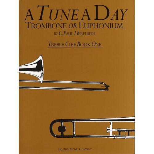 BOSWORTH HERFURTH C. PAUL - A TUNE A DAY TROMBONE, EUPHONIUM, TREBLE CLEF - BOOK 1 - BK. 1 - EUPHONIUM