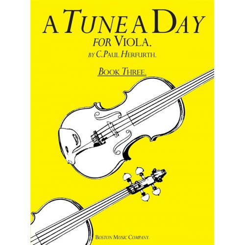 BOSWORTH A TUNE A DAY FOR VIOLA BOOK THREE VLA - VIOLA