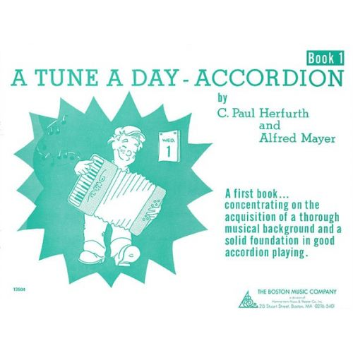 BOSWORTH A TUNE A DAY FOR ACCORDION BOOK ONE - ACCORDION