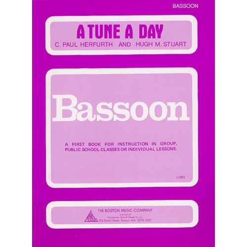 BOSWORTH A TUNE A DAY FOR BASSOON BOOK ONE - BASSOON