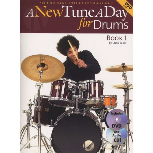 BOSWORTH A NEW TUNE A DAY FOR DRUMS BOOK ONE + CD/DVD - BOOK 1 - DRUMS