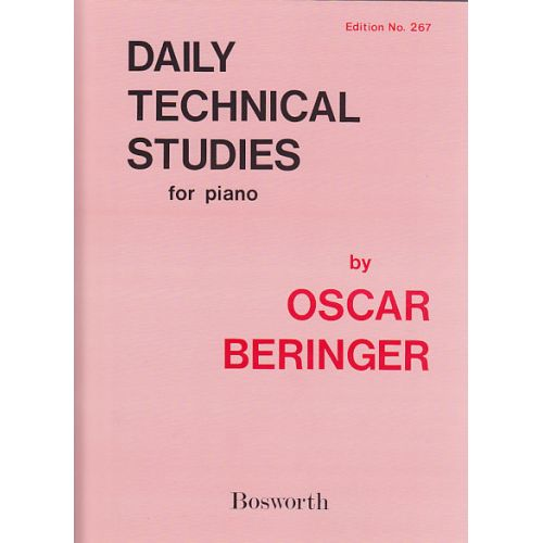 BOSWORTH DAILY TECHNICAL STUDIES - PIANO