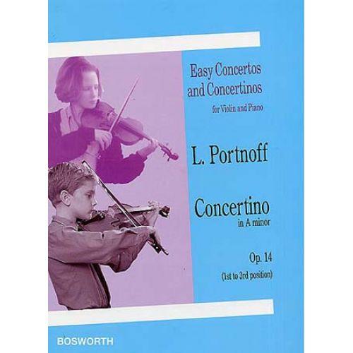 BOSWORTH PORTNOFF - CONCERTINO EN LA MINEUR OP.14 - VIOLON, PIANO