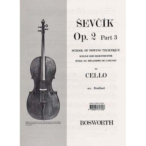 BOSWORTH SEVCIK CELLO OP.2 PART.3 ECOLE DE L'ARCHET