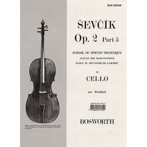 BOSWORTH SEVCIK - OP.2 PART.5 - SCHOOL OF BOWING TECHNIQUE - CELLO