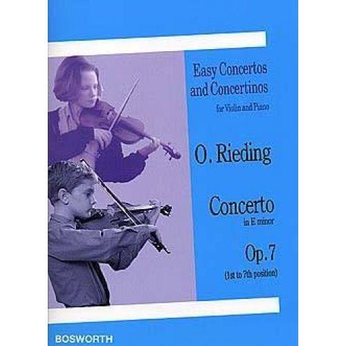 BOSWORTH RIEDING OSCAR - CONCERTO OP.7 E-MOLL - VIOLON & PIANO