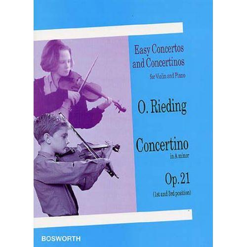 BOSWORTH RIEDING OSCAR - CONCERTINO OP.21 EN LA MINEUR- VIOLON,PIANO