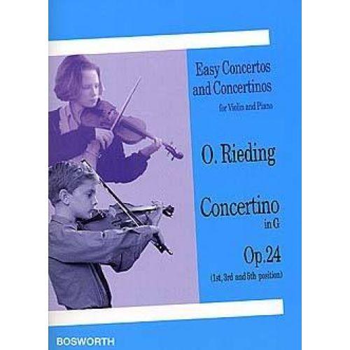 BOSWORTH RIEDING OSCAR - CONCERTINO OP.24 EN SOL MAJEUR - VIOLON & PIANO
