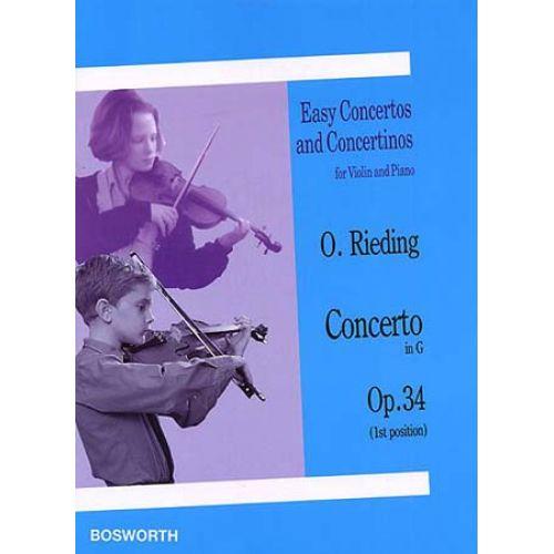 BOSWORTH RIEDING - CONCERTO IN G OP.34 - VIOLON, PIANO