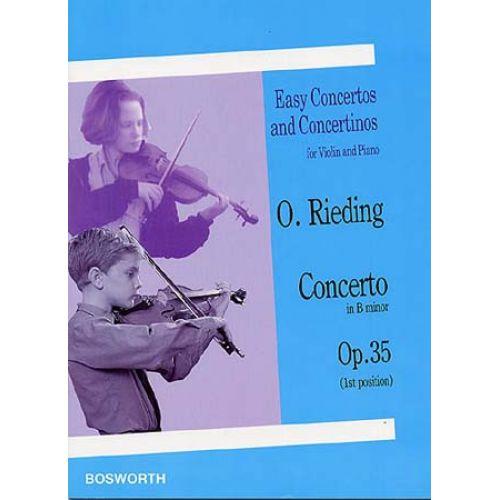 BOSWORTH RIEDING O. - CONCERTO IN B MINOR OP.35 - VIOLON, PIANO