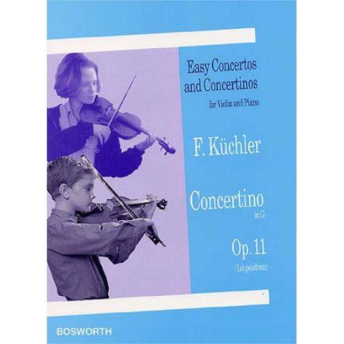 BOSWORTH KÜCHLER - CONCERTINO OP.11 - VIOLON, PIANO