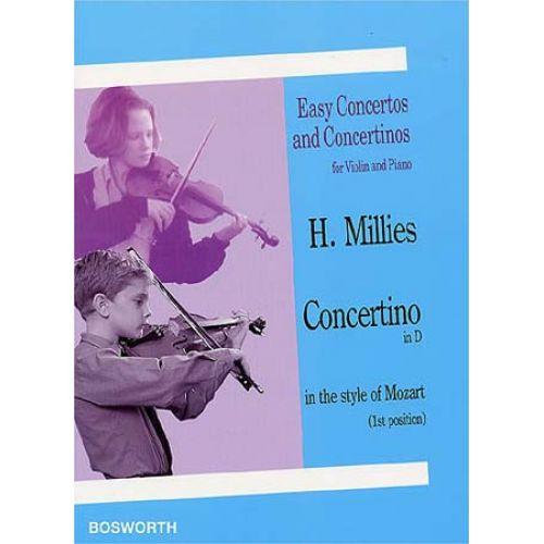 BOSWORTH MILLIES H. - CONCERTINO IN D - VIOLON, PIANO