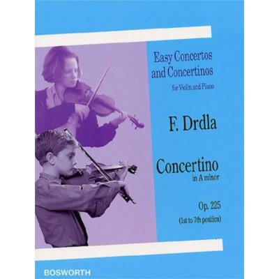 BOSWORTH DRDLA F. - CONCERTINO IN A MINOR OP.225 - VIOLON ET PIANO