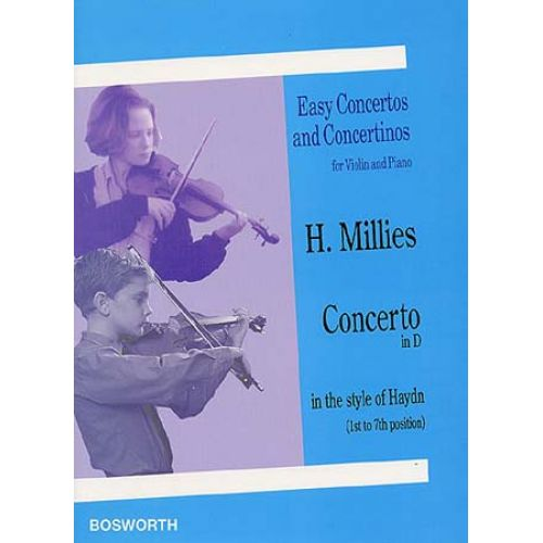 BOSWORTH MILLIES H. - CONCERTO IN D - VIOLON ET PIANO