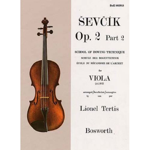BOSWORTH SEVCIK - ETUDES OP.2 PART 2 - BOWING TECHNIQUE - VIOLA