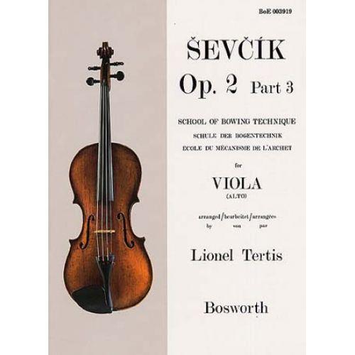 BOSWORTH SEVCIK - OP.2 PART.3 - MECANISME DE L'ARCHET - ALTO
