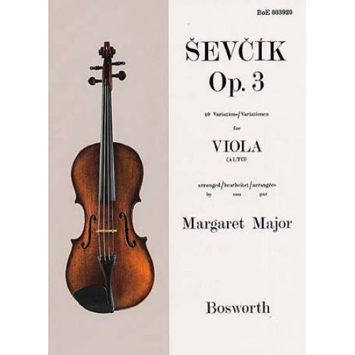 BOSWORTH SEVCIK - 40 VARIATIONS OP.3 - VIOLA