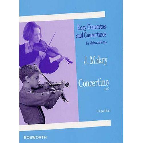 BOSWORTH MOKRY JIRI - CONCERTINO IN G - VIOLON / PIANO