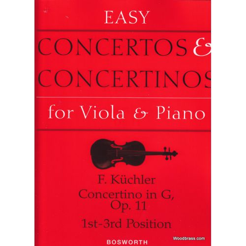 BOSWORTH KUCHLER F. - CONCERTINO IN G OP.11 1ST-3RD POSITION - VIOLA, PIANO