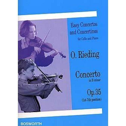 BOSWORTH RIEDING O. - CONCERTO IN B MINOR OPUS 35 - VIOLONCELLE ET PIANO