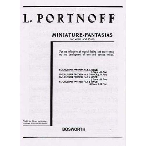 BOSWORTH PORTNOFF - RUSSIAN FANTASIA N°1 A MINOR - VIOLIN,PIANO