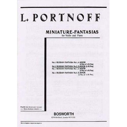 BOSWORTH PORTNOFF - RUSSIAN FANTASIA N°2 D MINOR - VIOLON / PIANO