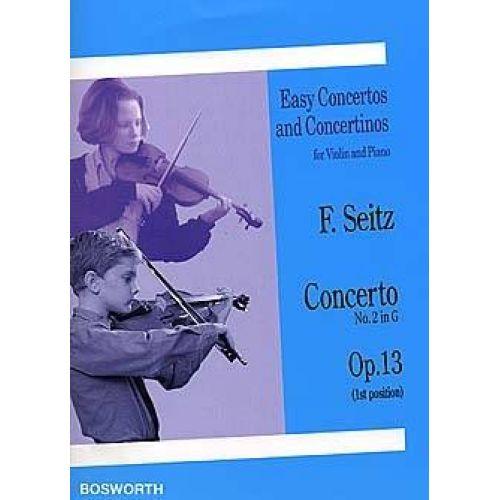 BOSWORTH SEITZ - CONCERTO OP.13 EN SOL MAJEUR - VIOLON & PIANO