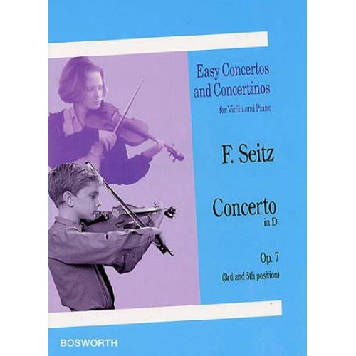 BOSWORTH SEITZ F. - CONCERTO IN D OP.7 - VIOLON, PIANO