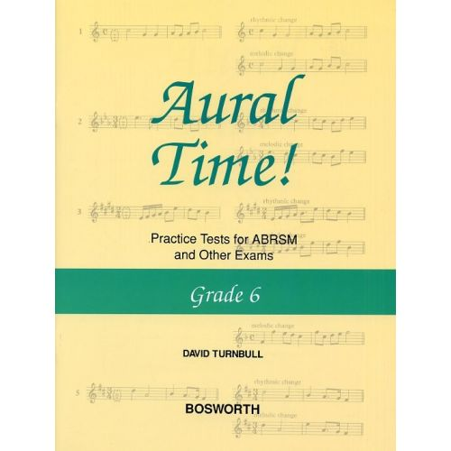 BOSWORTH DAVID TURNBULL AURAL TIME! PRACTICE TESTS GRADE 6 - VOICE