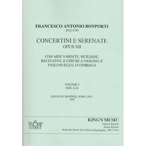 KING'S MUSIC BONPORTI - CONCERTINI E SERENATE OP. 12/6