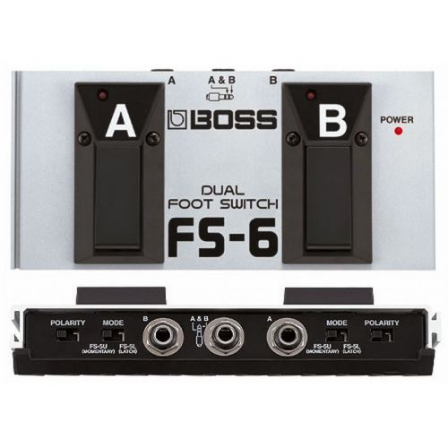 BOSS FS6 DUAL FU SCHALTER LATCH OR UNLATCH CONFIGURABLE FS6