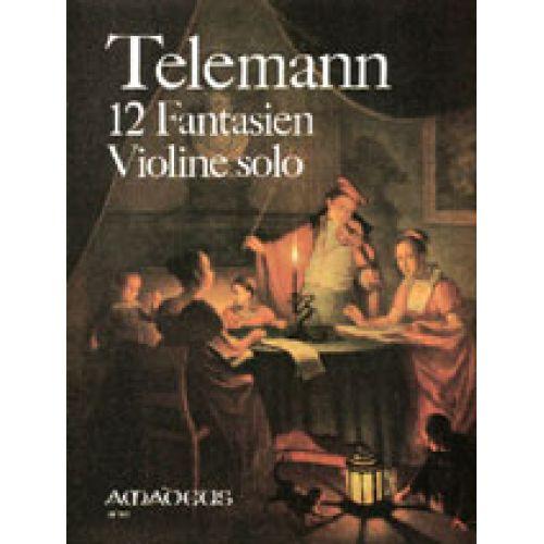 AMADEUS TELEMANN - 12 FANTASIEN VIOLINE SOLO