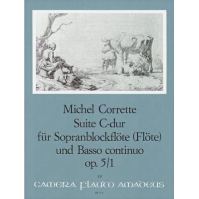 AMADEUS CORRETTE M. - SONATE C-DUR OP. 5/1 - FLB SOPRANO ET BC