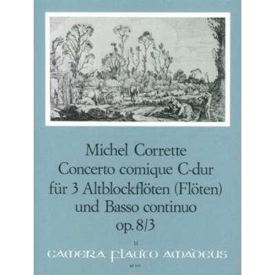 AMADEUS CORRETTE MICHEL - CONCERTO COMIQUE IN C MAJOR OP.8/3 - SCORE AND PARTS